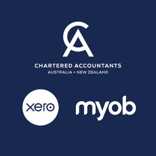 xero myob and chartered accountants logos